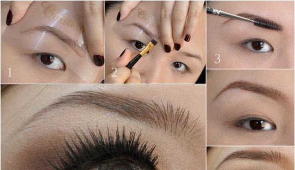 Use Eyebrow Stencils