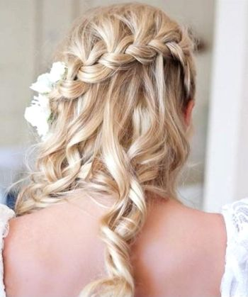 Half Up Half Down Wedding Hairstyle with Braid