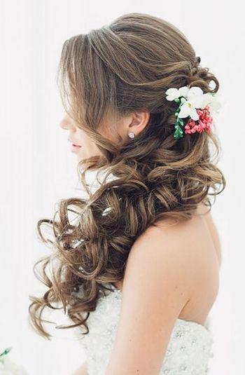 Half Up Half Down Wedding Hairstyles 2016