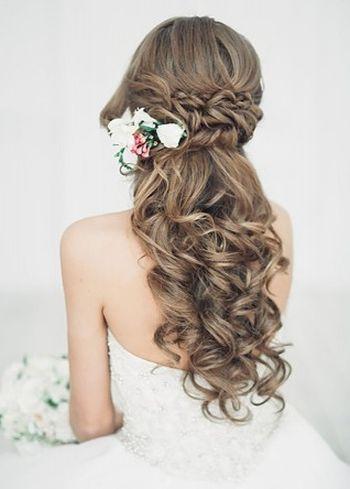 Sensational 37 Half Up Half Down Wedding Hairstyles Anyone Would Love Short Hairstyles Gunalazisus