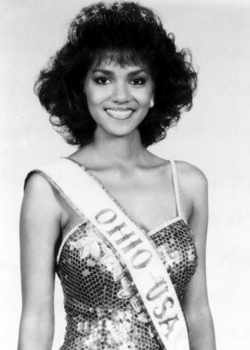Halle Berry as Miss Ohio USA came first runner up in the CBS TV Miss USA pagent in 1986 WENN