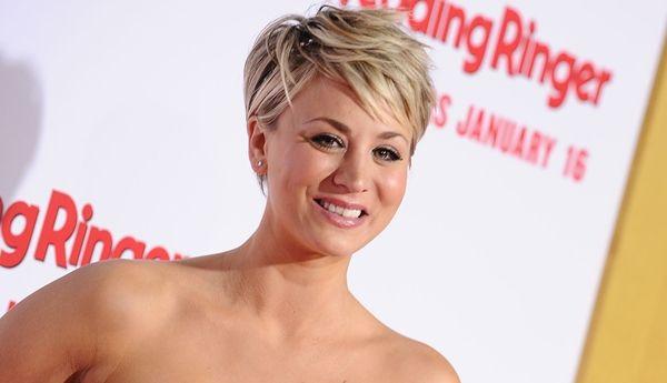 Kaley Cuoco Hairstyles Haircuts Short Pixie Bangs Updos