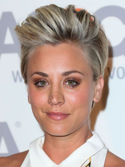 Astounding Kaley Cuoco Hairstyles Amp Haircuts Short Pixie Bangs Amp Updos Short Hairstyles For Black Women Fulllsitofus