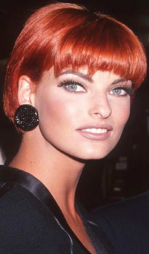 linda evangelista short hair
