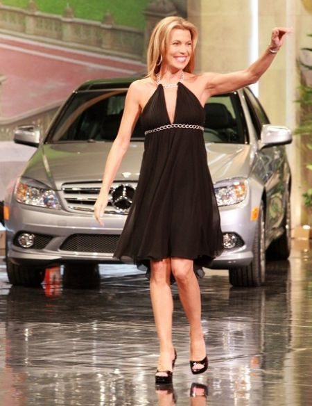 Vanna White in Wheel of fortune show