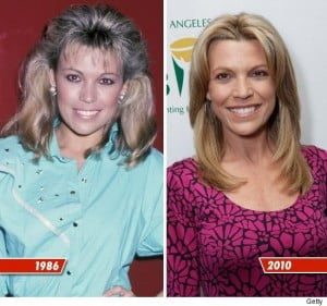 Vanna White then and now