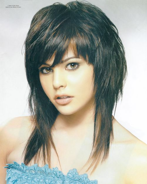... heavy bangs and one can reduce the hair thickness with this haircut