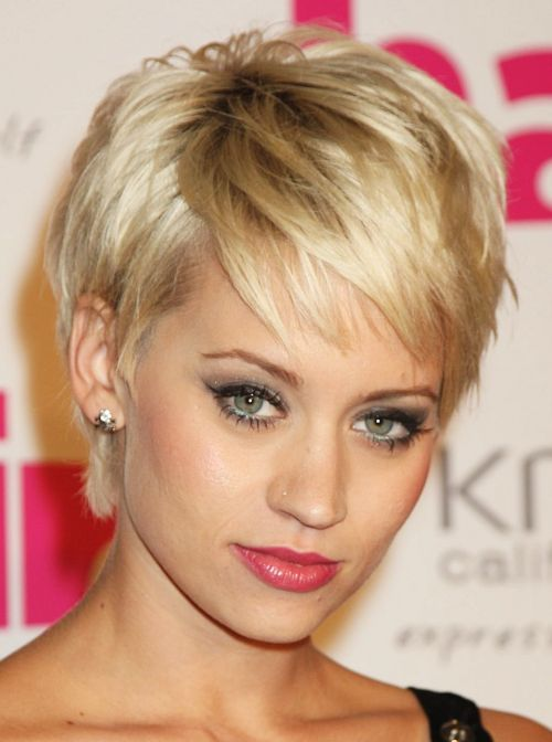 Kimberly Wyatt's feather haircut