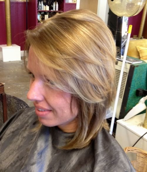 Side Swept Feather Cut for Short Hair