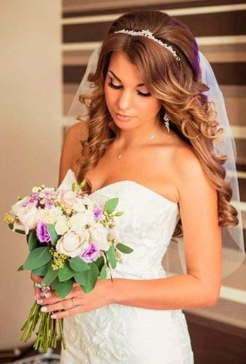 half up half down wedding hairstyles for long hair 2016