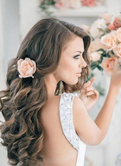 Wedding Hairstyles For Long Hair Half Up Half Down Straight : Half up down wedding hairstyles anyone would love