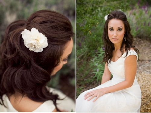 Half Up Half Down Wedding Hairstyles For Medium Length Hair: Half Up Half Down Wedding Hairstyles Every Bride Desires