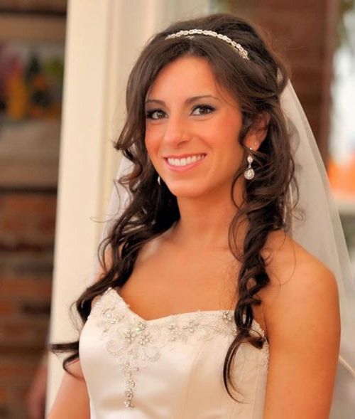 Wedding Hairstyle For Long Hair With Veil: 37 Half Up Half Down Wedding Hairstyles Anyone Would Love