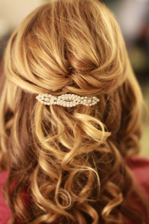 Curly Hairstyle Shoulder Length : 39 half up down hairstyles to make you look perfect