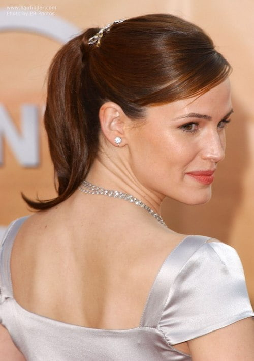 jennifer garner ponytail hairstyle