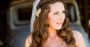 New half up half down hairstyles for wedding