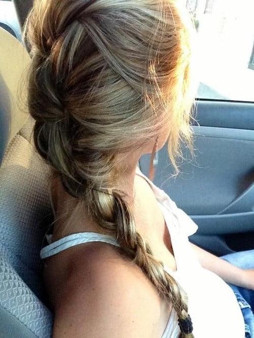 summer long hair with braids