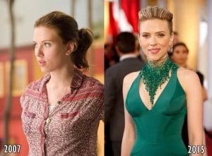 Scarlett Johansson then and now