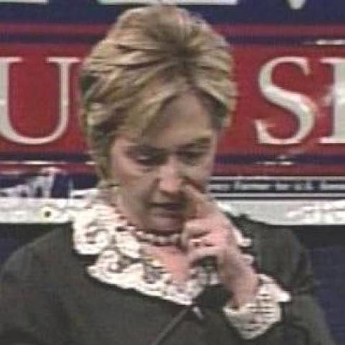 Hillary Clinton picking nose
