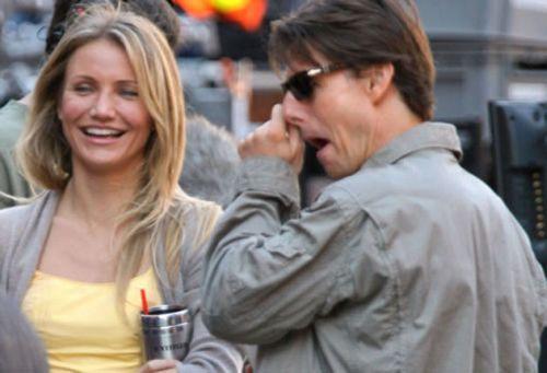 Tom Cruise picking nose