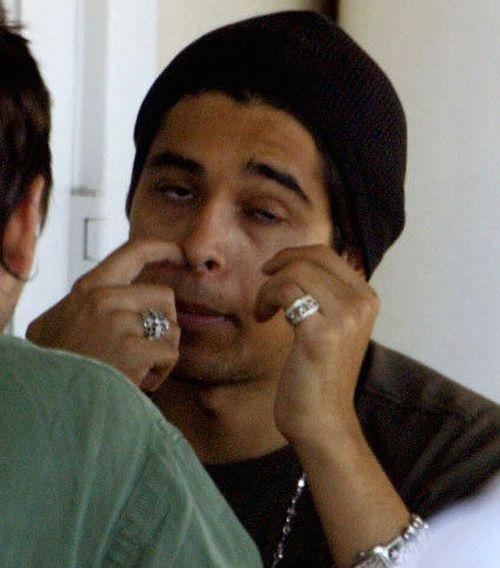 Wilmer Valderrama picking nose