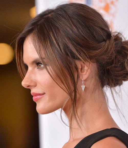 pumped up chignon alessandra ambrosio