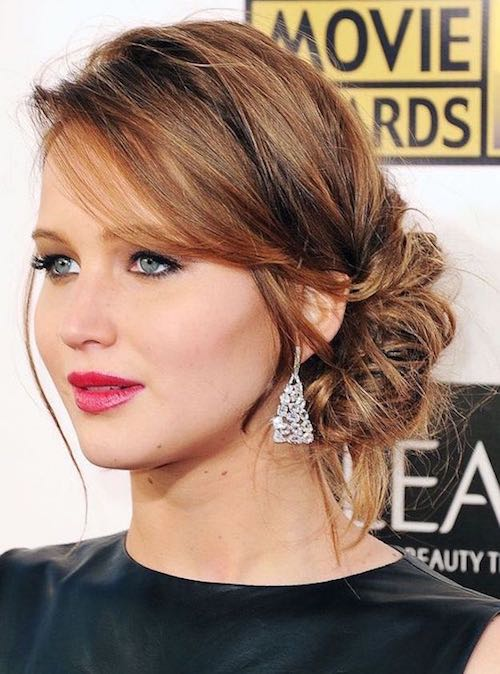 pumped up chignon jennifer lawrence