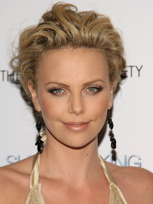 textured coif charlize theron