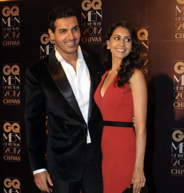 John Abraham with his wife Priya Runchal