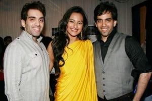 Sonakshi Sinha With Her Brothers