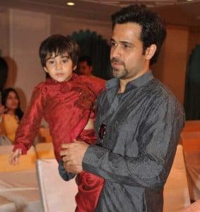 Emraan Hashmi with his son Ayaan Hashmi