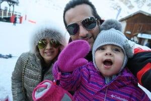 Fardeen-Khan with his wife Natasha Madhvani and daughter Diani Isabella Khan
