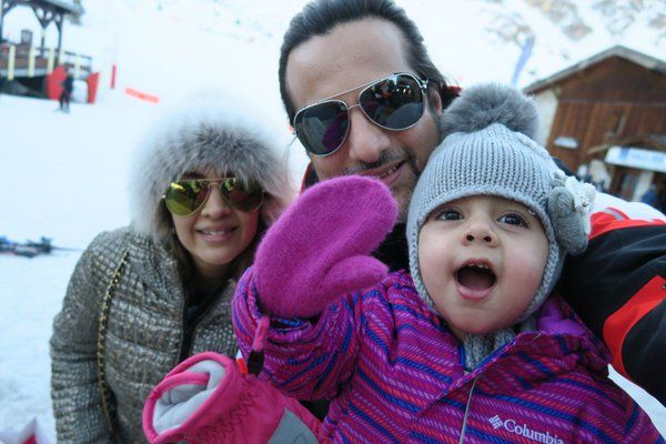 Fardeen Khan with his wife Natasha Madhvani and daughter Diani Isabella Khan
