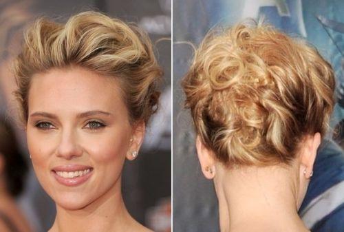Scarlett Johansson Twisted Updos