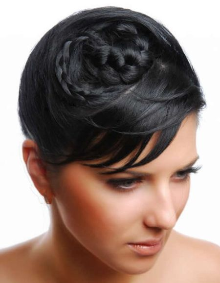 short black hair braids