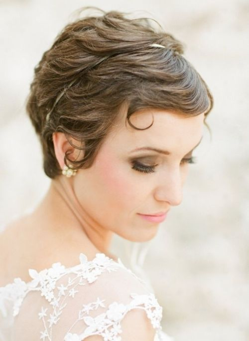 pixie bangs wedding hair