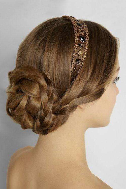headband updo