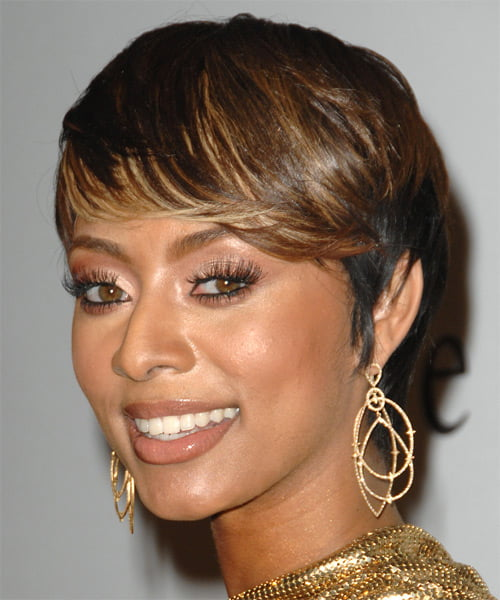 keri hilson streaked short haircut
