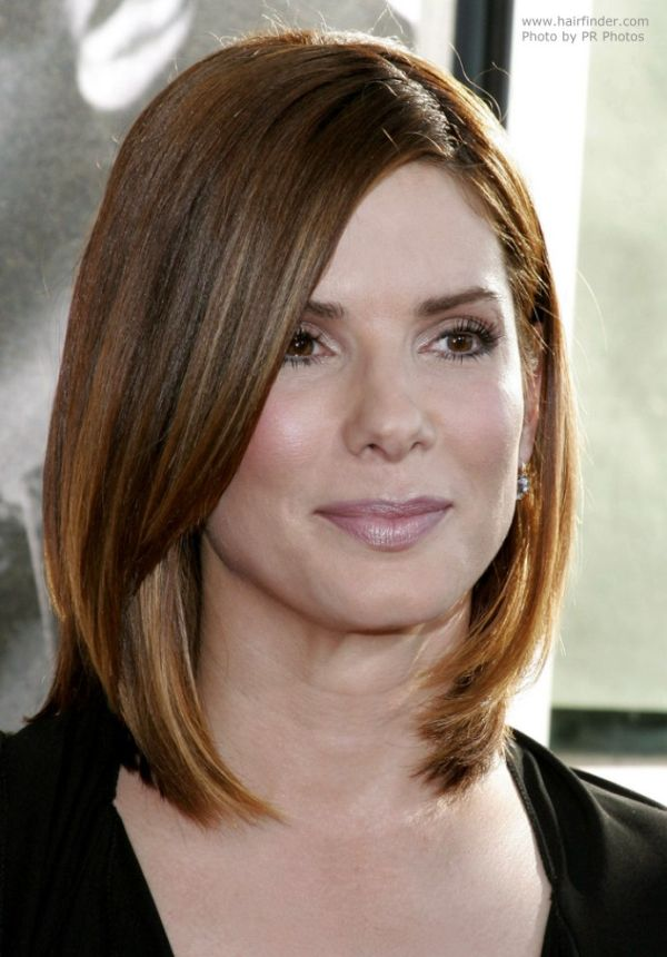 Long bob haircut - Sandra Bullock