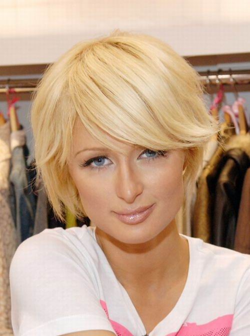 paris hilton cute short bob cut