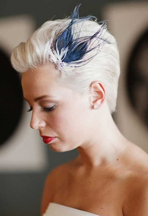 pixie hairstyle for wedding