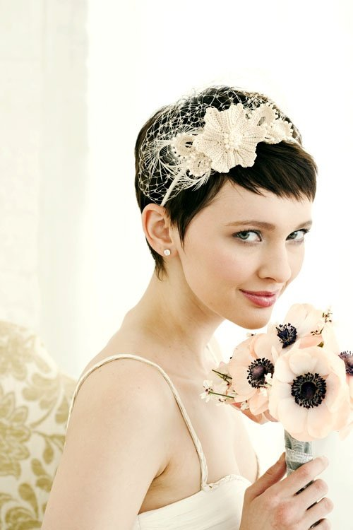 pixie hairstyle for wedding1