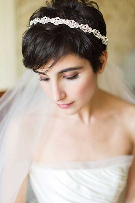Amazing 55 Stunning Wedding Hairstyles For Short Hair 2016 Hairstyles For Men Maxibearus