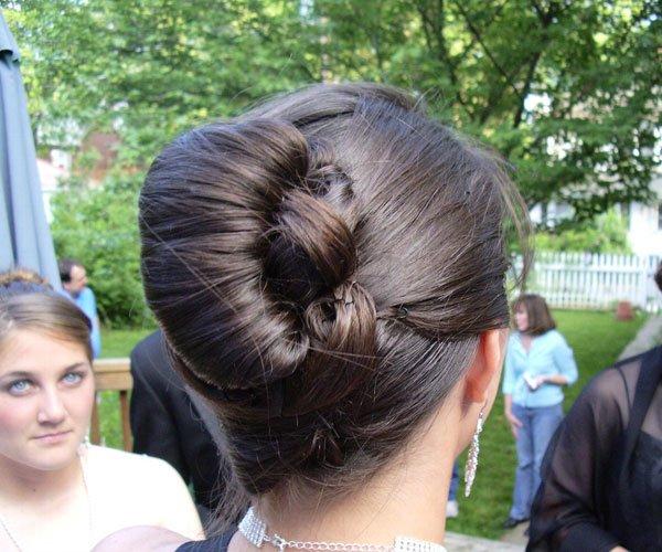 poof bun updo for wedding1