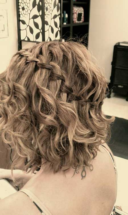 curls medium bob braid
