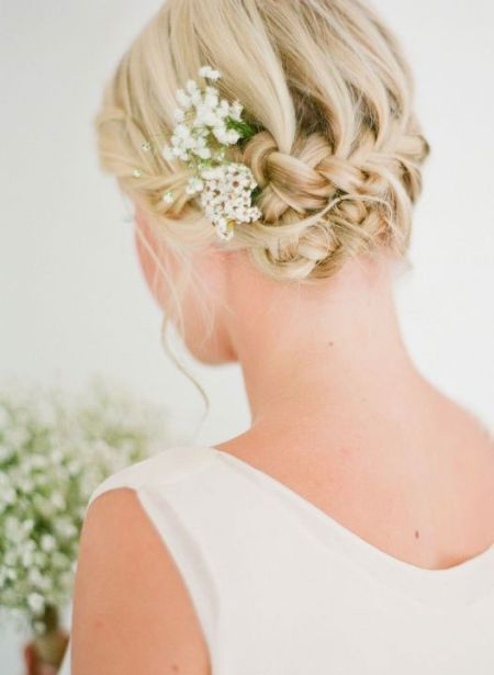 short hair wedding braid