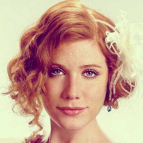 angled bob bridal hair