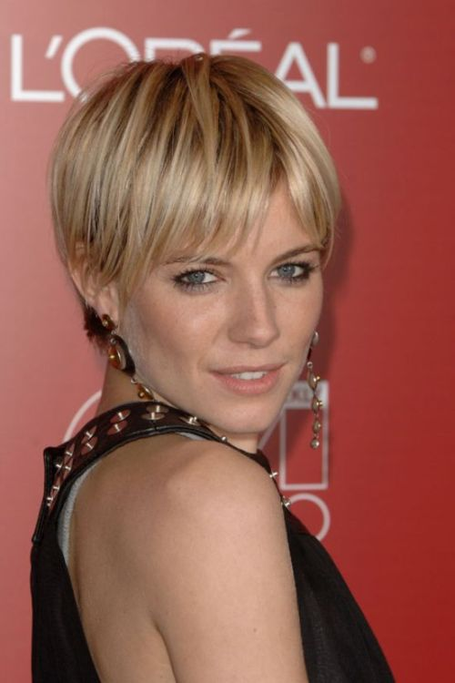 Sienna Miller short haircut