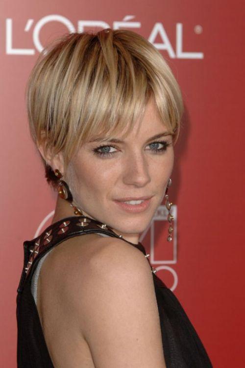 Sienna Miller short haircut
