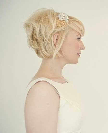 simple blonde hairstyle for wedding1